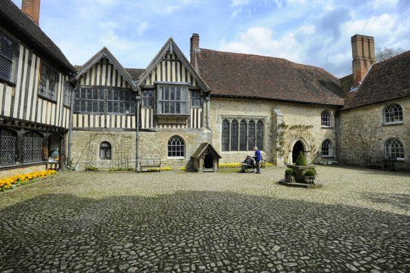 Ightham courtyard